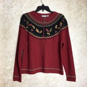 NWT Croft & Barrow Medium Leaves Sweater Fall